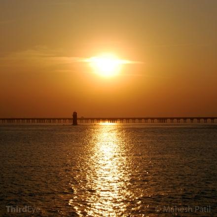 Mahesh Patil, Sunset, Seascape,