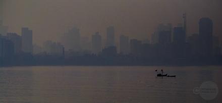 Mahesh Patil, Grey Morning, Mumbai, Seascape,