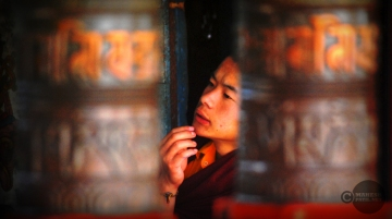 Thoughtful Monk, Sikkim, Rumtek, Sikkim, Buddhist, Mahesh Patil