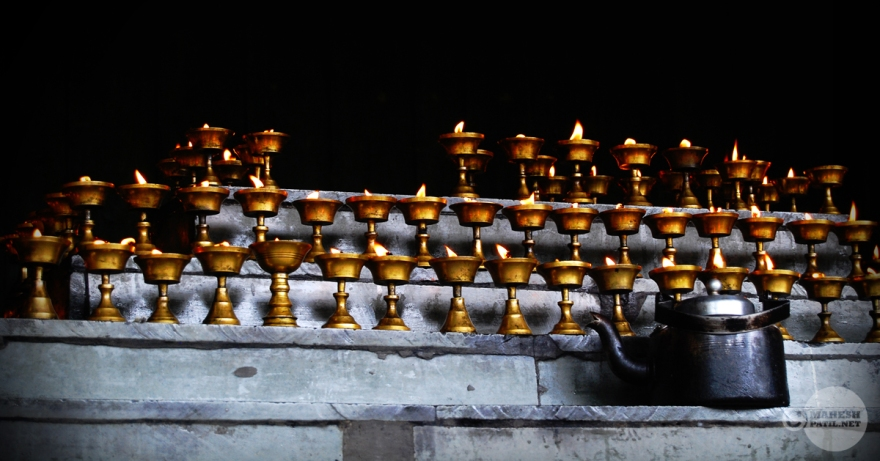 Khecheopalri Lake, Khecheopalri, Sikkim, India. Lights, Diya, Lights, Brass, Kettle, Oil,