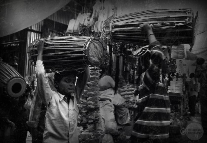 Young Musician, Mahesh Patil, Alandi, Local Markets, India