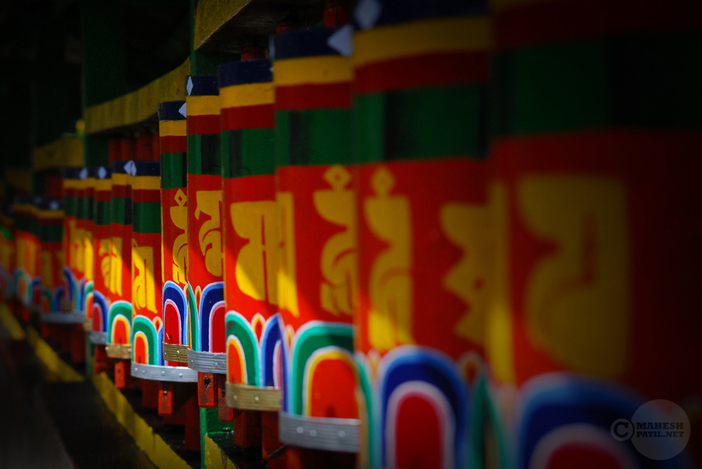 Prayer Wheels, Sikkim, Mahesh Patil, Enchay Monastery