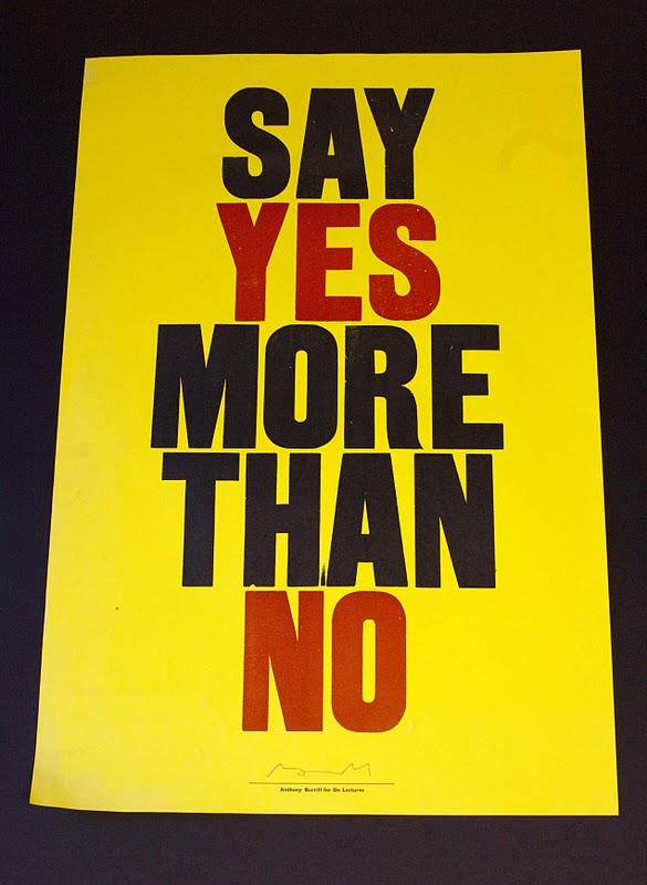 Say Yes More Than No!