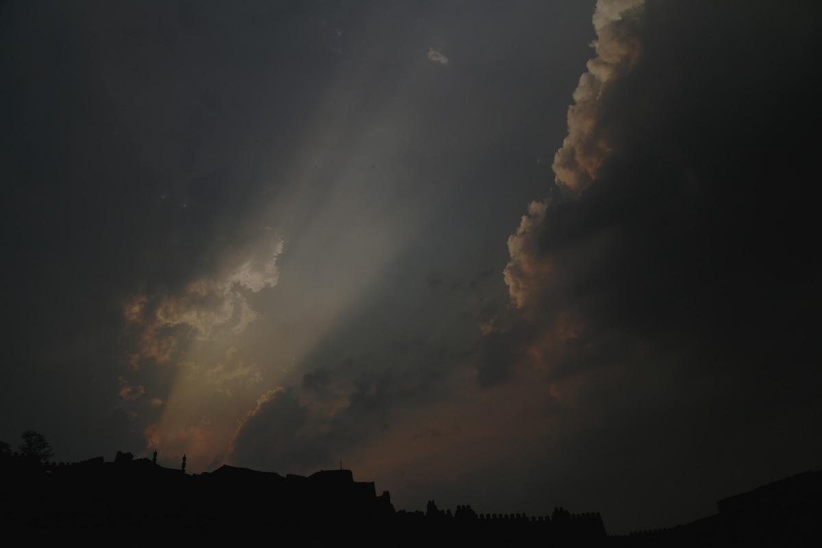 Sun going down over Golkonda fort, Hyderabad. Mahesh Patil