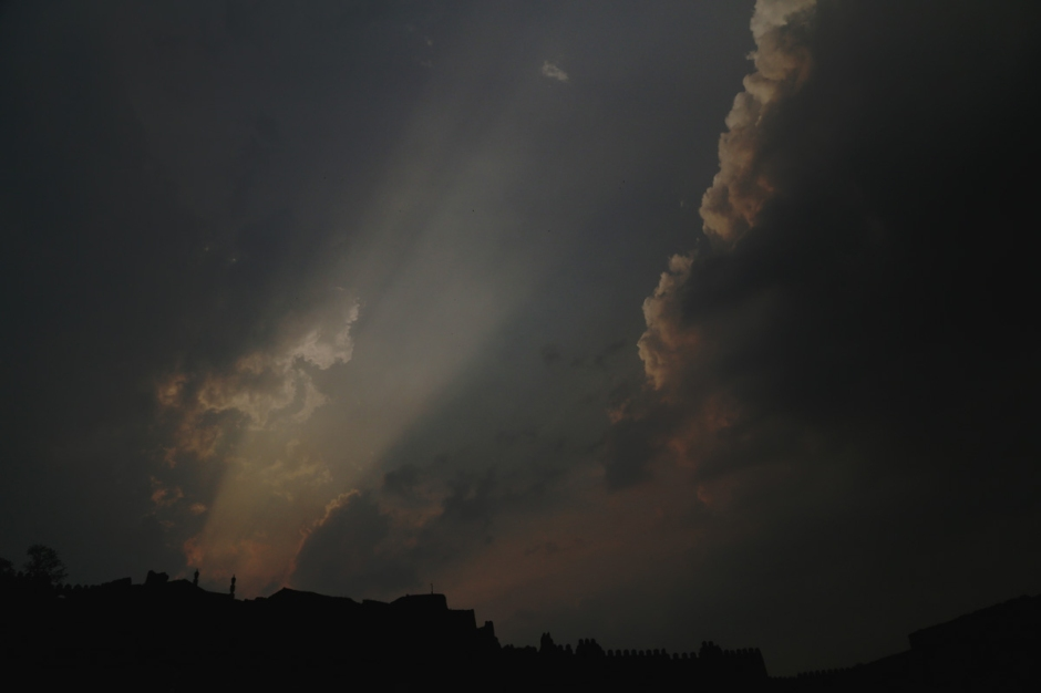 Sun going down over Golkonda fort, Hyderabad. Mahesh Patil